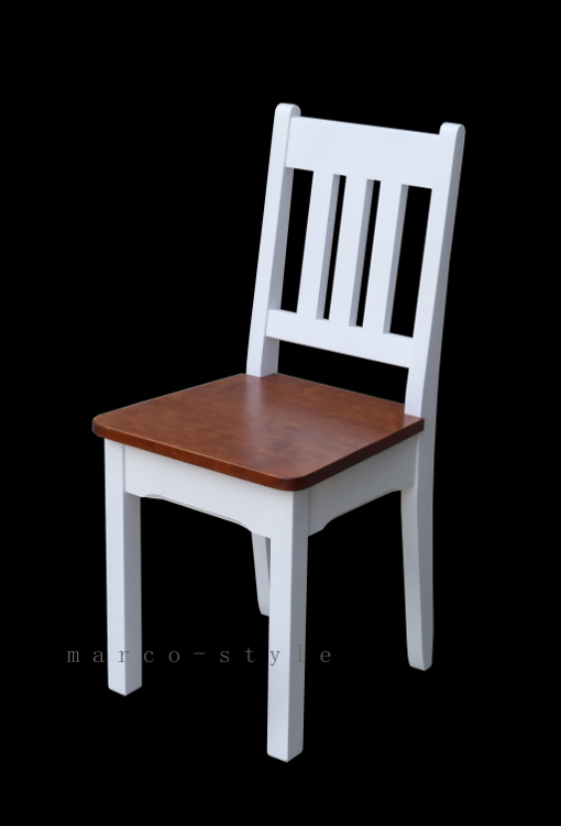 B3 Białe Stylizowane Krzesło Kuchenne Drewniane Marco