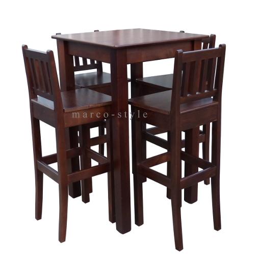 H110 D Wysoki Stół Barowy Cztery Barowe Krzesła Hokery