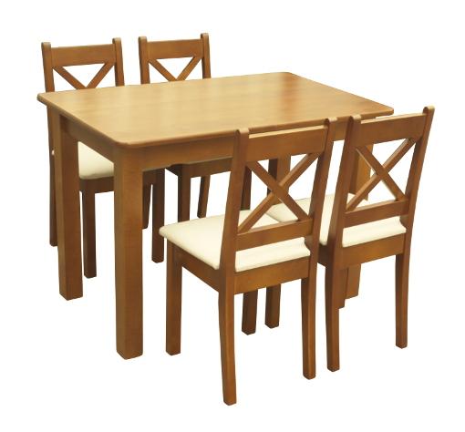 Zestaw Xt Drewniany Stół Do Kuchni Z Czterema Krzesłami Z